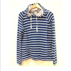 J. Crew Terry Cloth Hoodie stripes Size Small